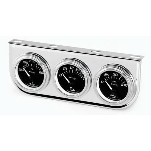 Gauge Panel Bracket Triple Chrome