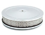 "9"" Chrome Air Filter for Holley, Rochester, Carter, Edelbrock"