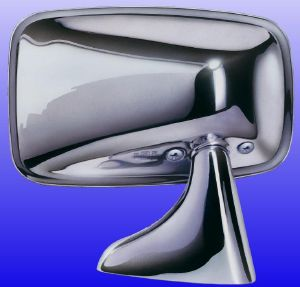 Classic British Stainless Door Mirror