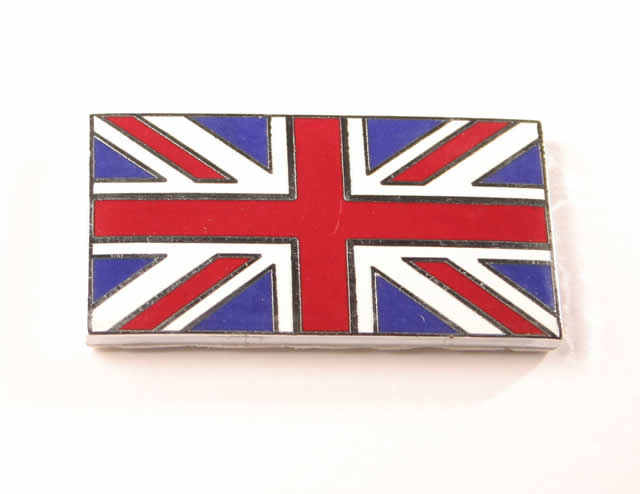 Union Jack Enamel Badge Self Adhesive