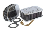 Chrome Sports Air Filters for Weber & Dellorto Carbs