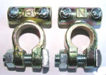 Battery Terminals Brass Pair
