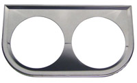 Gauge Panel Bracket Twin Chrome