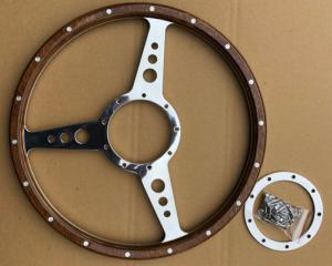 RatSport Classic Wood Steering Wheel Flat