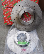 Cross Drilled & Grooved Brake Discs 232mm