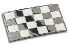 Chequered Flag Enamel Badge Self Adhesive