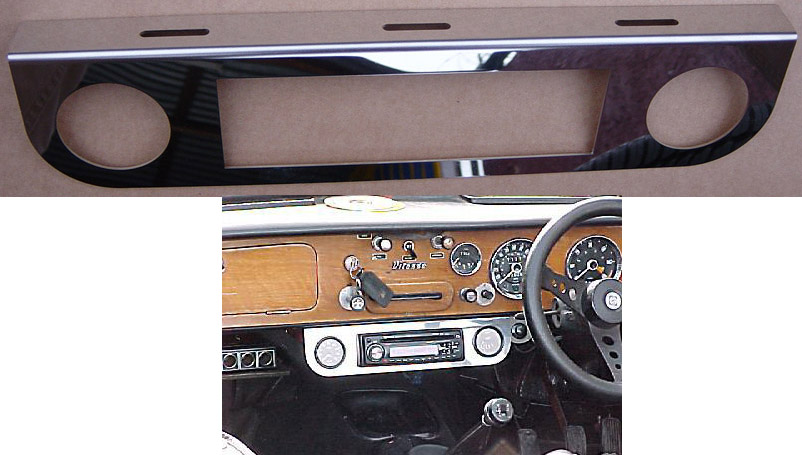Gauge Panel Bracket Twin & Stereo/CD Slot
