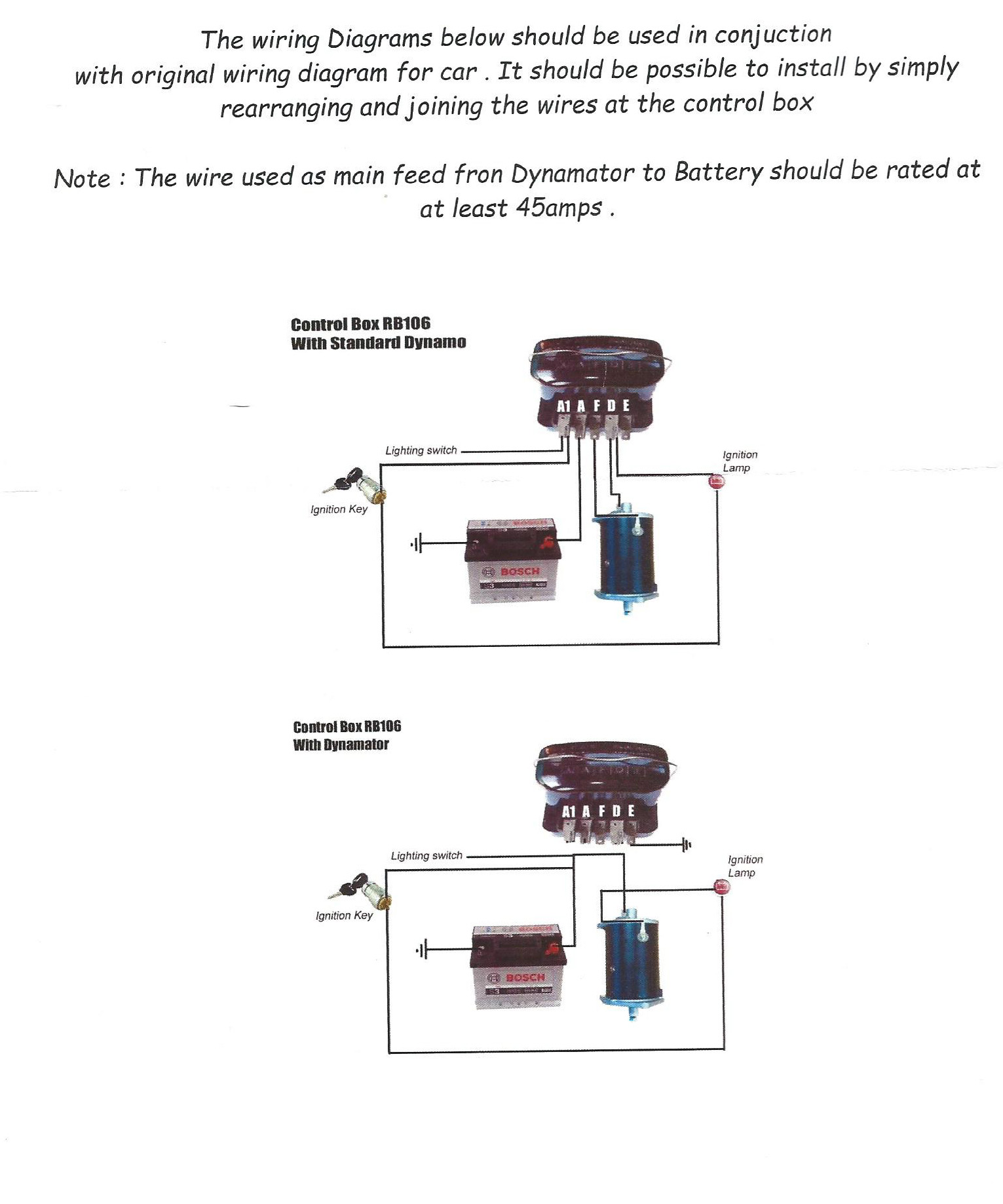 Excellent Dynamo To Alternator Conversion Wiring Diagram ...
