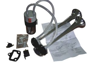Truck & Marine Air Horn Kit Twin Trumpets