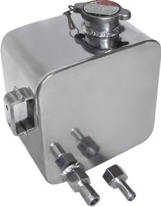 Alloy Radiator Header & Breather Tank (Pressure Cap Type) Rectangular