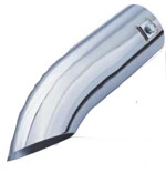 Curved Stainless Deflector Tailpipe