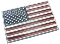 Stars & Stripes Chromed ABS Plastic