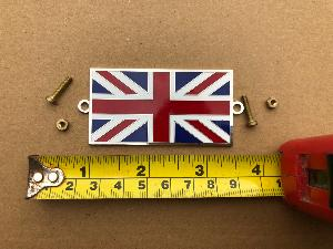 Union Jack Enamel Badge Bolt On