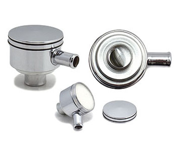 Chrome Oil Filler Breather Cap Stub Pipe Type