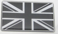 Union Jack Black/Silver Resin Pair